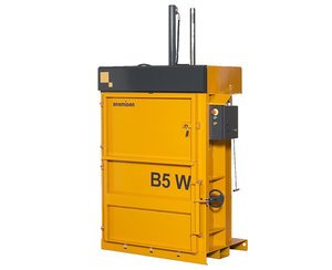 cardboard and plastic baler for large boxes and soft plastic