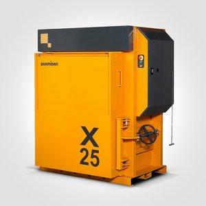 Yellow Cardboard Vertical Baler
