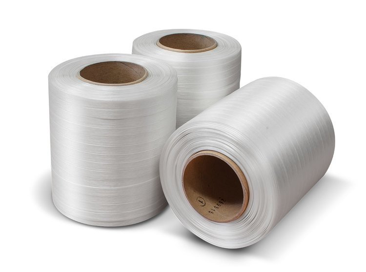 Product image of three twines of Baler strapping tape